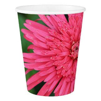 Tasse de papier magnifique fleur rose/de corail gobelets en papier