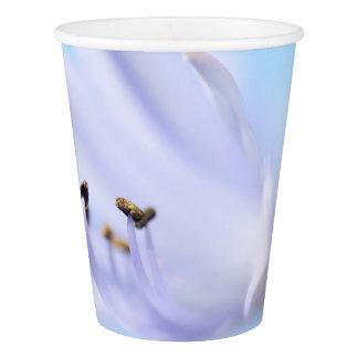 Tasse de papier partie mauve-clair/bleue de fleur gobelets en papier