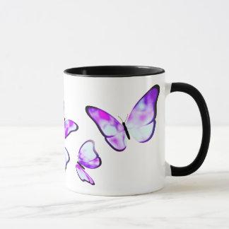 Tasse de papillon de regard de perle de Hyriopsis