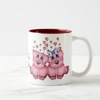 Tasse de porc d'amour