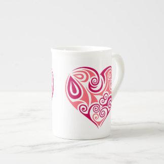 Tasse de porcelaine tendre - coeur