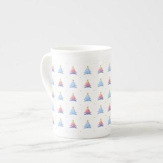 Tasse de porcelaine tendre d'arbres de Noël