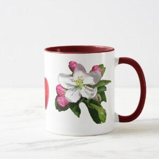 tasse de sonnerie de fleur de pomme