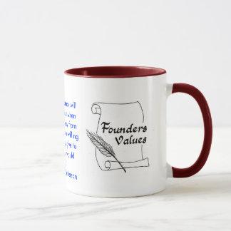 Tasse de sonnerie de Thomas Jefferson de valeurs