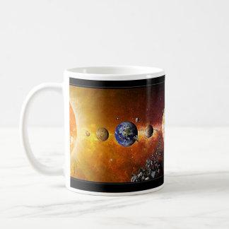 Tasse de système solaire Coffe