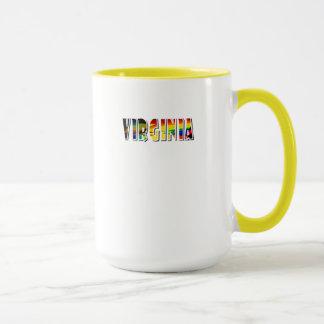 Tasse de thé pour la Virginie dans jaune et le