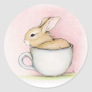 Tasse de thé sticker rond