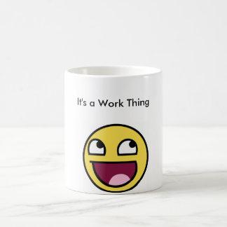 Tasse de travail de sourire