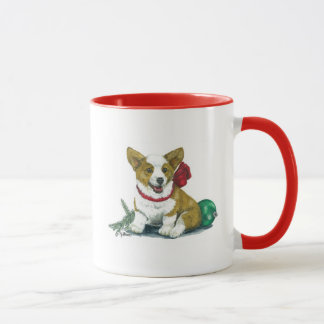 Tasse de vacances de chien de corgi