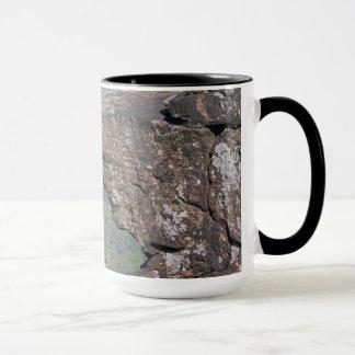 Tasse de visage de roche