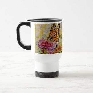Tasse de voyage d'art de papillon de monarque