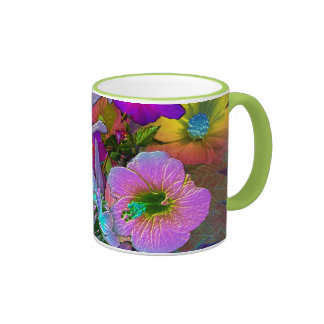 tasse de voyage de fleur