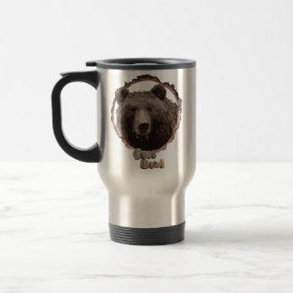Tasse de voyage d'ours d'amants de nature