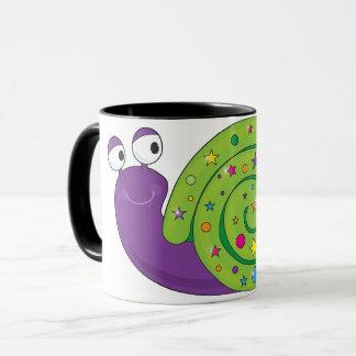 Tasse décorée d'escargot