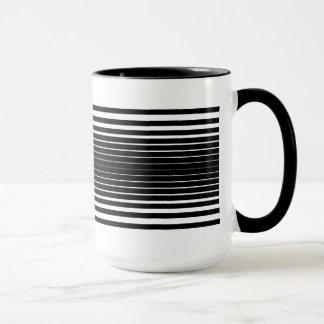 Tasse déformée (noir et blanc)