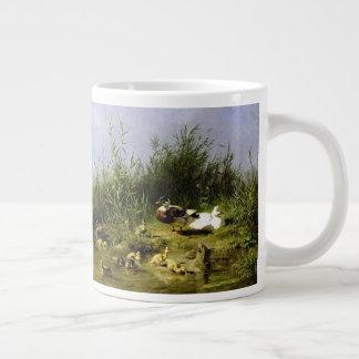 Tasse d'éléphant de faune d'étang d'oiseaux de