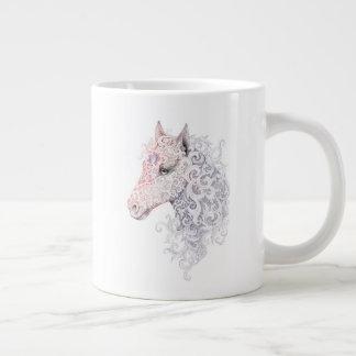 Tasse d'éléphant de tatouage de tête de cheval