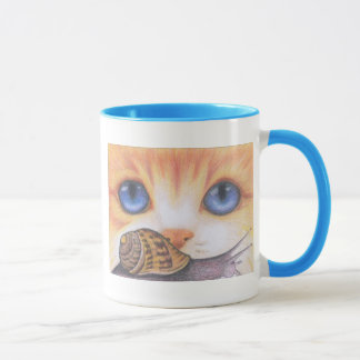 Tasse d'escargot et de chat