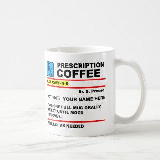 Tasse drôle de Rx de caféine de café de