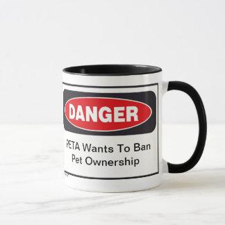 Tasse du danger PETA