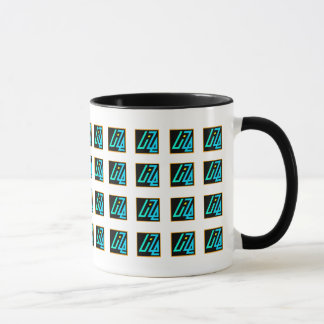 Tasse d'UIZE (matrice carrelée sur le blanc)