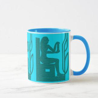 Tasse égyptienne antique de style