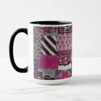 Tasse en céramique d'édredon de patchwork