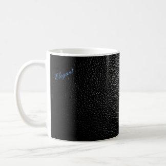 Tasse en cuir noire de base et élégante de style