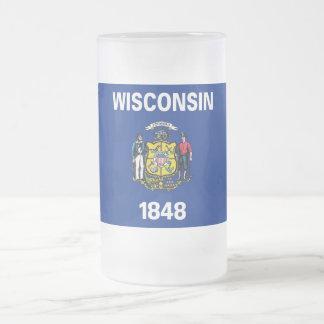 Tasse en verre givré avec le drapeau de l'état du