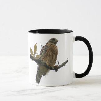 Tasse épaulée rouge de faucon