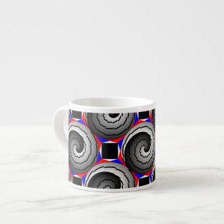 Tasse Expresso Double spirale de Yin Yang