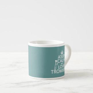 Tasse Expresso Gardez le calme et aimez le trombone (toute