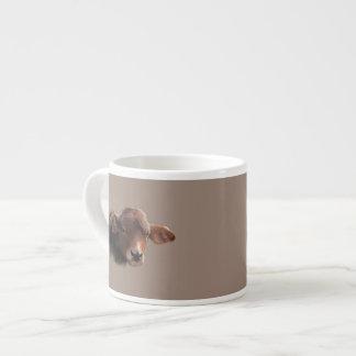 Tasse Expresso Portrait roux de vache à Brown