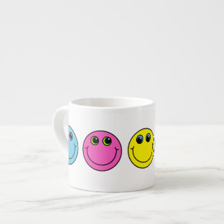Tasse Expresso Visages souriants colorés
