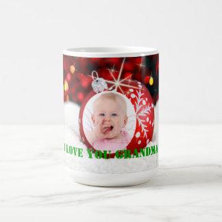 Tasse faite sur commande de Noël de grand-maman de
