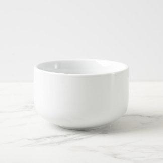 Tasse faite sur commande de soupe bol à soupe