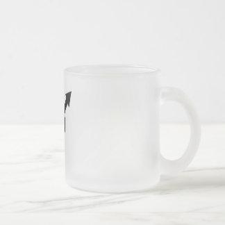Tasse féministe en verre givré de symbole