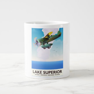 Tasse Géante Affiche vintage de voyage d'appui vertical du lac