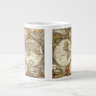 Tasse Géante Carte antique du monde, C. 1680. Par Frederick de