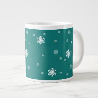Tasse Géante Laissez lui neiger, motif de flocons de neige sur