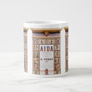 Tasse Géante Musique vintage d'opéra, Egyptien Aida par Verdi