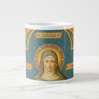 Tasse Géante St Clare d'Assisi et rouleaux des voeux (SAU 027)