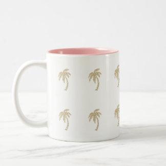 Tasse Girly de thé de café de palmiers de
