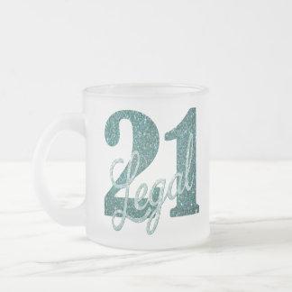 Tasse Givré 21ème Vert | 21 et partie turquoise juridique de