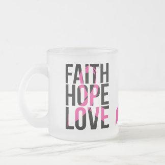 Tasse Givré Amour rose de foi d'espoir de cancer du sein de