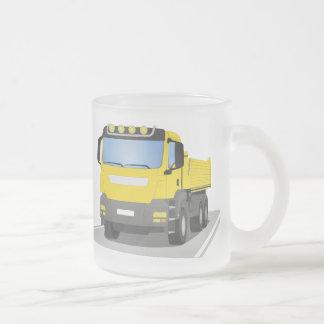 Tasse Givré chantiers camion jaunes