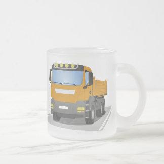 Tasse Givré chantiers camion oranges