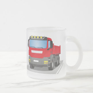 Tasse Givré chantiers camion rouges