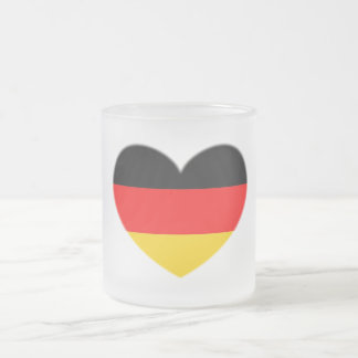 Tasse Givré Coeur de drapeau de l'Allemagne