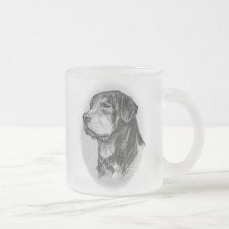 Tasse Givré Dessin original de rottweiler par LN Pettey